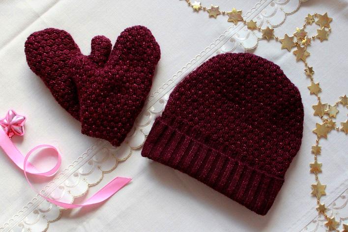 DIY Mütze Handschuhe Traumbeere Upcycling