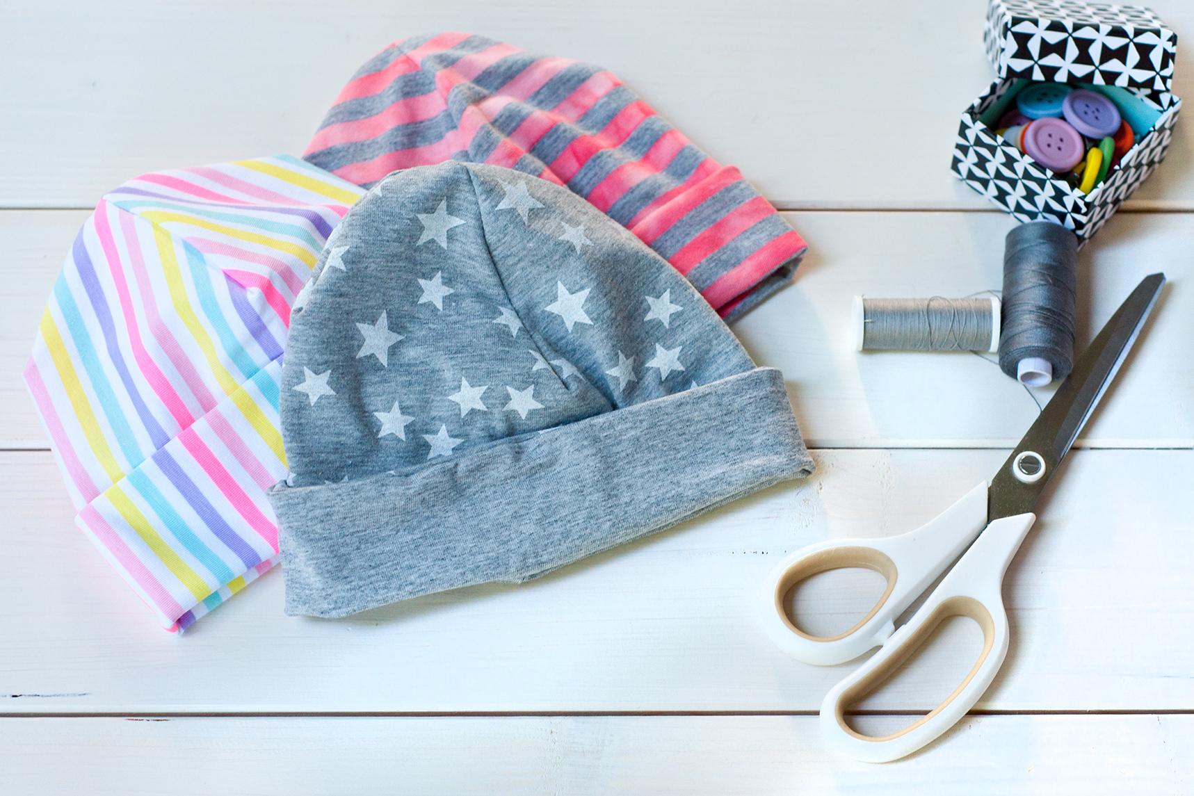 DIY Mütze aus Jersey Traumbeere